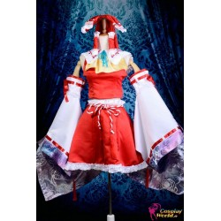 touhou projekt hakurei reimu lolita cosplay kostume anime manga