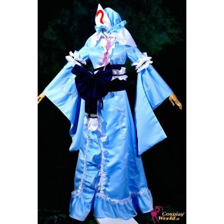 touhou project saigyouji yuyuko lolita cosplay costumeanime manga
