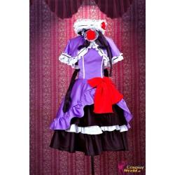 umineko no naku koro ni eva beatrice lolita lila kleid cosplay kostume anime manga