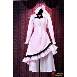 shugo chara tsukiyomi utau cosplay kostume rosa kleid anime manga