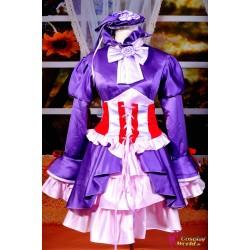 shugo chara shugo chara tsukiyomi utau cosplay kostume lila kleid anime manga