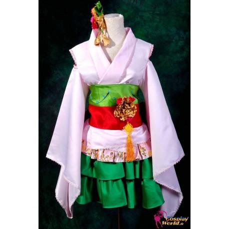 macross frontier ranka lee kurtisane kimono cosplay kostume anime manga