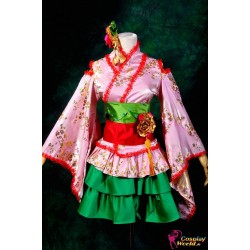 Macross Frontier Ranka Lee Kurtisane Kimono Cosplay Kostüme Wunderschöne Version