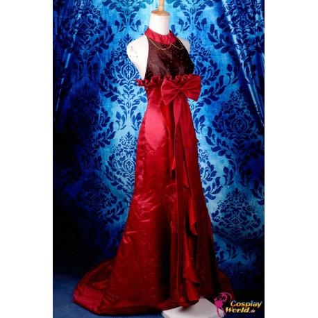 macross frontier sheryl nome cosplay costume elegant red dress anime manga