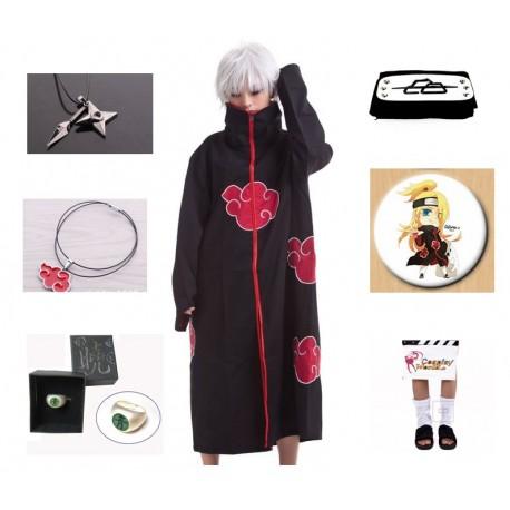 naruto akatsuki deidara cosplay kostume komplett deluxe set