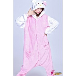 hello kitty kigurumi pyjamas schlafanzuge kigurumi cosplay anime strampler