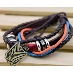 anime manga attack on tian shingeki no kyojin lederarmband cosplay accessoire