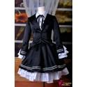 VOCALOID Project Diva F Secret Police Miku Cosplay Kostüme elegant schwarze Kleid
