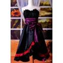 VOCALOID Project Diva F Luka Amour elegantes schwarzes Kleid Cosplay Kostüme