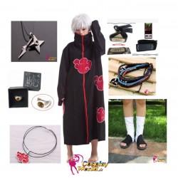 naruto akatsuki zetsu cosplay kostume komplett deluxe set