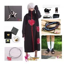 naruto akatsuki hoshigaki kisame cosplay kostume komplett deluxe set