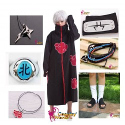 naruto akatsuki kakuzu cosplay kostume komplett deluxe set