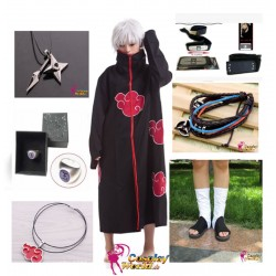naruto akatsuki sasori cosplay kostume komplett deluxe set