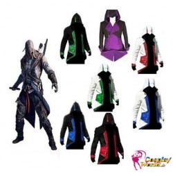 assassin s creed 3 connor kenway different colors hoodie jackets cosplay costumes
