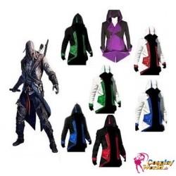 Assassin's Creed 3 Connor Kenway Polychromatic verschiedene Farben mehrfarbig Cosplay Kostüme