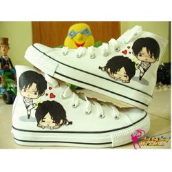 attack on titan eren levi handbemalte sneakers