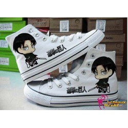 Attack on Titan Levi handbemalte Sneakers