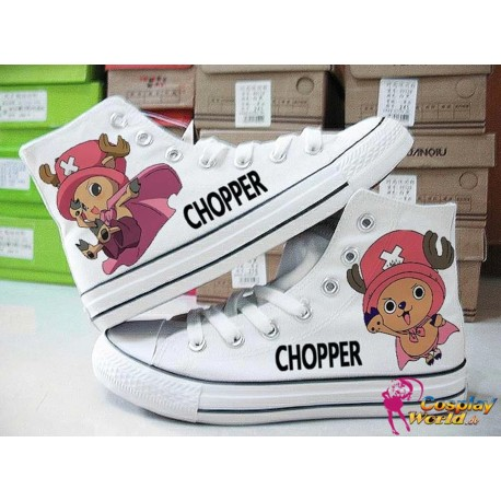 one piece chopper handbemalte sneakers sneaker high