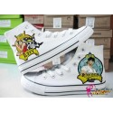 One Piece Monkey D. Luffy handbemalte Sneakers, Sneaker high