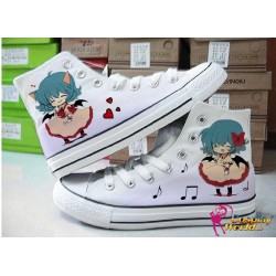 touhou project remilia scarlet hand painted sneakers