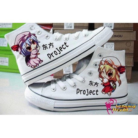 touhou project remilia flandre handbemalte sneakers sneaker high