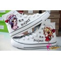 Touhou Project Remilia, Flandre handbemalte Sneakers, Sneaker high