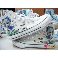 touhou project cirno handbemalte sneakers sneaker high