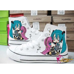 vocaloid miku handbemalte sneakers sneaker high