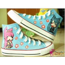 vocaloid miku luka hand painted sneakers