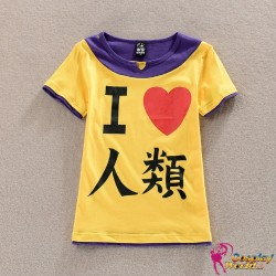 No Game No Life Sora Orange T-Shirt Cosplay Kostüm Anime Manga