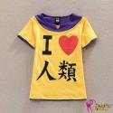 No Game No Life Sora Orange T-Shirt Cosplay Kostüm Anime Manga