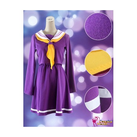 no game no life shiro lila kleid cosplay kostum matrosenanzug anime manga