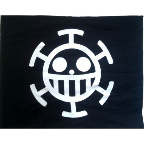 wandfahne zimmerfahne one piece trafalgar law flagge anime flagge flag