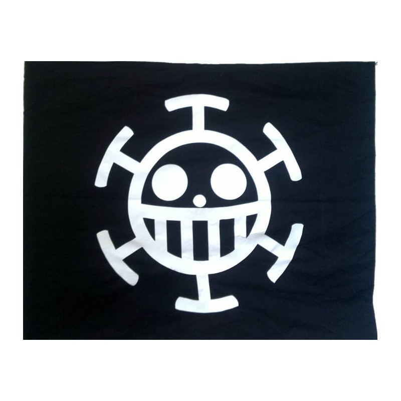 Wandfahne Zimmerfahne One Piece Trafalgar Law Flagge Anime Flag Loading Zoom