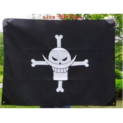 wandfahne zimmerfahne one piece edward flagge anime flagge flag schadel