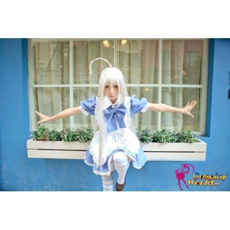 haiyore nyaruko san nyaruko crawling with love cosplay kostume dienstmadchen maid kawaii blauen rock