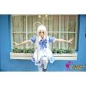 Haiyore Nyaruko-san Nyaruko: Crawling with Love Cosplay Kostüme Dienstmädchen Maid kawaii Blauen Rock
