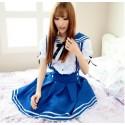 Balue japanische Sailor Kostüme Schulmädchen Uniform School Girl