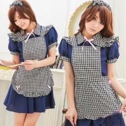 asia princess maid cosplay dienstmadchen kostum blau magd kleid