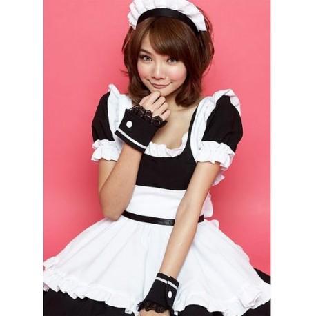 akihabara cosplay hausmadchen kostum suss und kawaii schwarz lolita maid cosplay