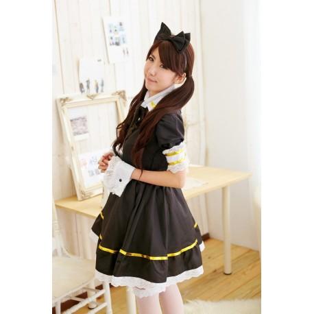 kawaii kitty katze meido maid cosplay kostum dienstmadchen lolita kleid