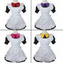 4-teilig Japan Meido Cosplay Maid Dienstmädchen Kostüm lolita Cafe Kleid