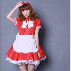 rote kawaii barbie maid cosplay hausmadchen kostume halsbander schurzen np05
