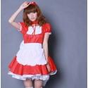 Rote Kawaii Barbie Maid cosplay Hausmädchen Kostüme Halsbänder Schürzen NP05