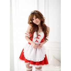 sexy red meido maid cosplay maid costume lolita cafe dress suss und kawaii