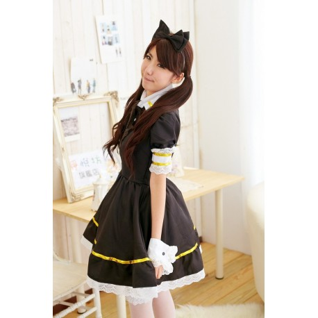 kitty cat maid costume japan maid cosplay lolita kwaii dress maid meido