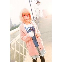 Kuriyama Mirai Matrosenanzug, Schuleuniform-Rock Beyond the Boundary Cosplay Kostüm