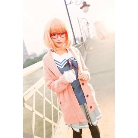 Kuriyama Mirai Matrosenanzug, Schuleuniform-Rock Beyond the Boundary Cosplay Kostüm