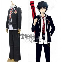 Blue Exorcist Ao no Exorcist Okumura Rin Cosplay Kostüme Schule Uniform