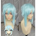 Lucaille® Sword Art Online Perücke Cospaly Sinon hellblaue Perücke